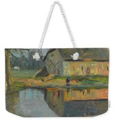 Landscape With A Barn Weekender Tote Bag