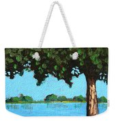 Landscape With A Lake And Tree Weekender Tote Bag