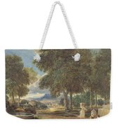 Landscape With A Man Washing His Feet At A Fountain Weekender Tote Bag