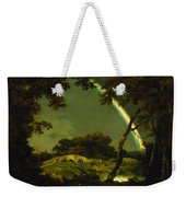 Landscape With A Rainbow Weekender Tote Bag by Joseph Wright of Derby