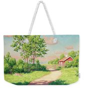 Landscape With A Red Cottage Weekender Tote Bag