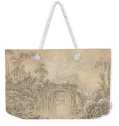 Landscape With A Rustic Bridge Weekender Tote Bag