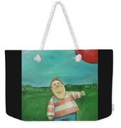 Landscape With Boy And Red Balloon Weekender Tote Bag