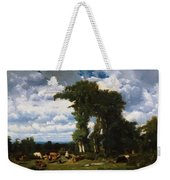 Landscape With Cattle At Limousin 1837 Weekender Tote Bag