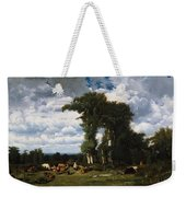 Landscape With Cattle At Limousin Weekender Tote Bag