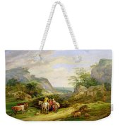 Landscape With Figures And Cattle Weekender Tote Bag
