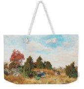 Landscape With Fox Weekender Tote Bag