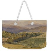 landscape with Lochnagar in the distance Weekender Tote Bag