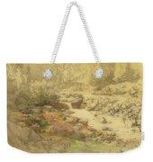 Landscape With Rocks In A River Weekender Tote Bag