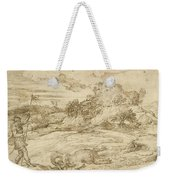 Landscape With St. Theodore Overcoming The Dragon Weekender Tote Bag