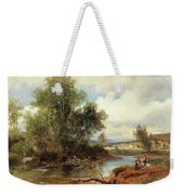 Landscape With Stream And Decorative Figures Weekender Tote Bag