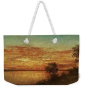 Landscape With Trees At The Rivers Weekender Tote Bag