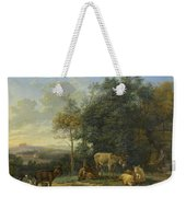 Landscape With Two Donkeys, Goats And Pigs Weekender Tote Bag
