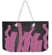 Languettes 02 - Pink Weekender Tote Bag
