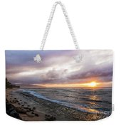 Laniakea Beach Sunset Weekender Tote Bag