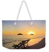 Lanikai Lounging At Sunrise Weekender Tote Bag