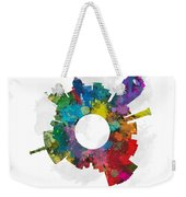 Lansing Small World Cityscape Skyline Abstract Weekender Tote Bag