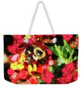 Lantanas And The Bee Weekender Tote Bag