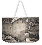 Lanterman's Mill In Mill Creek Park Black And White Weekender Tote Bag