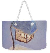 Lantern Light On A Snowy Evening Weekender Tote Bag