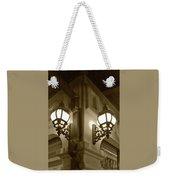 Lanterns - Night In The City - In Sepia Weekender Tote Bag