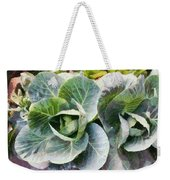 Large Leaves Of A Cabbage Plant Weekender Tote Bag
