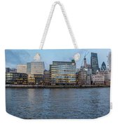 Large Panorama Of Downtown London Betwen The London Bridge And T Weekender Tote Bag