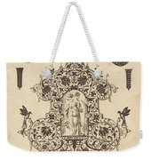 Large Pendant, Temperance Standing At Centre Weekender Tote Bag