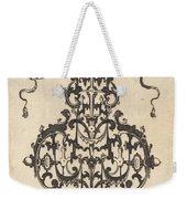 Large Pendant, Two Winged Fantasy Creatures With Trumpets At Bottom Weekender Tote Bag
