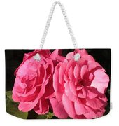 Large Pink Roses Weekender Tote Bag