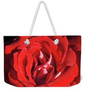 Large Red Rose Center - 003 Weekender Tote Bag
