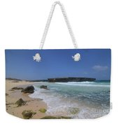 Large Rock Formation On The Beach At Boca Keto Weekender Tote Bag