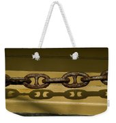 Large Rusted Chain And Its Shadow Weekender Tote Bag