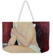 Large Seated Nude Weekender Tote Bag by Amedeo Modigliani