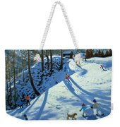 Large Snowball Zermatt Weekender Tote Bag by Andrew Macara