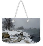Large Stones Covered With Snow Weekender Tote Bag