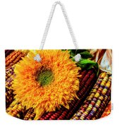 Large Sunflower On Indian Corn Weekender Tote Bag