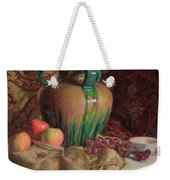 Large Vase With Apples Weekender Tote Bag