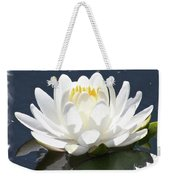 Large Water Lily With White Border Weekender Tote Bag