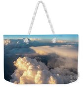 Large White Cloud From Passanger Airplace Window At Sunset Weekender Tote Bag