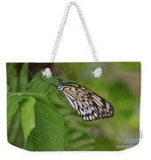 Large White Tree Nymph Butterfly On Green Foliage Weekender Tote Bag