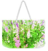 Larkspur Flowers In Soft Oil Style Weekender Tote Bag