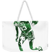 Larry Bird Boston Celtics Pixel Art 10 Weekender Tote Bag