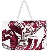 Larry Fitzgerald Arizona Cardinals Pixel Art 1 Weekender Tote Bag