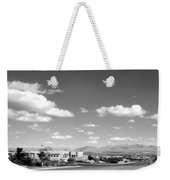 Las Cruces Mountains Black And White Weekender Tote Bag