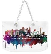 Las Vegas Skyline City Blue Weekender Tote Bag