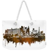Las Vegas Skyline City Brown Weekender Tote Bag