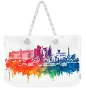 Las Vegas Skyline City Color Weekender Tote Bag