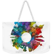 Las Vegas Small World Cityscape Skyline Abstract Weekender Tote Bag