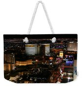 Las Vegas Strip Weekender Tote Bag by Kristin Elmquist
